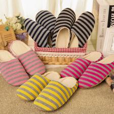 Women Men Soft Couple Indoor Floor Soft Non-slip Slippers Flock House Home Shoes