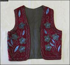 19C. VINTAGE TURKISH OTTOMAN HAND EMBROIDERED VELVET VEST YELEK