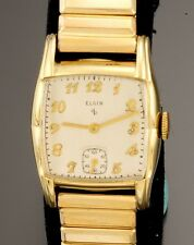 Vintage Elgin Grade 554 17 Jewel Yellow Rolled Gold Plate Case Watch CA1950