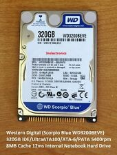 "Western Digital WD3200BEVE 320GB ATA/IDE 5400 rpm 8MB 2.5"" Int Bare Hard Drive"