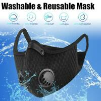 Reusable PM 2.5 Cotton Face Cover Activated Carbon With Filter Washable Black