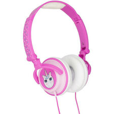 MY DOODLES BY KITSOUND CHILD FRIENDLY CHARACTER ON EAR HEADPHONES - UNICORN/PINK