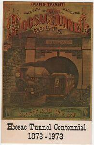 Hoosac Tunnel Centennial 1973 North Adams MA Railroad Postcard Nitroglycerine