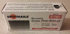 """Staples 10,000 NEW  Galvanized 22 Gauge 3/8"""" crown x 1/4"""" long Upholstery"""