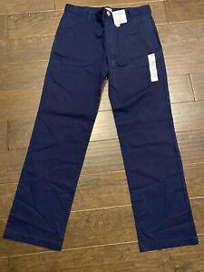 NWT Cat And Jack School Uniform Boys Navy Blue Pants - Size 16 Husky. Free Ship