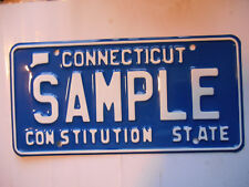 plaque immatriculation  usa connecticut license plate old americaine sample