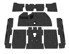 Premium VW Front Carpet Kit, Black Loop, w/o Footrest, Beetle 1973-1977