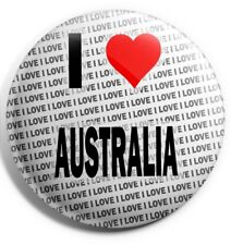 """I Love Australia Pin Badge 3"""" 75mm  - Gift - Birthday - Stocking Filler"""