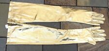 XLong New Metallic Gold Evening Gloves w/3 Button Fastenings