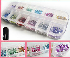 Women fashion  Manicure Wheel Supplies Nail Art Rhinestones Glitters Tips1200pc