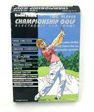 Radio Shack Electronic Championship Golf Handheld Video Game Two Players