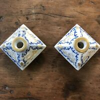 Paire de Flacon Porcelaine XIXeme Napoléon III Parfum Ancien Fiole