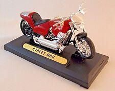 Harley Davidson Street Rod Diecast Motormax 1/18 Collector'S Motorcycle Model