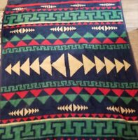 Biederlack of America Southwest Aztec Native Throw Camp Blanket USA 78 x58