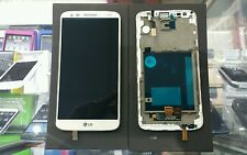 Verizon LG G2 VS980 White LCD Touch Display with Frame part