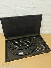 """Moore & Wright No. 1044 6"""" - 12"""" Adjustable External Micrometer In Box ME10"""