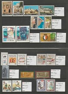 Malta Stamps 10 Fine Mint Sets