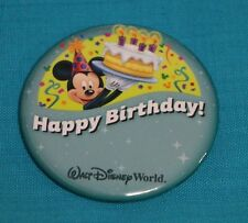 Walt Disney World Happy Birthday button pin with Mickey - You can personalize