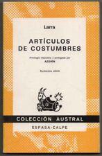 ARTICULOS DE COSTUMBRES - LARRA