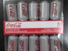 "Kurt Adler Coca Cola - ""Diet Coke""10 Light Can Light Set - NIP"
