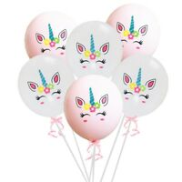 10x Unicorn Latex Balloons Birthday Party Decor Girls Magical Ballons Czx