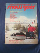 1973 Snow Goer Vintage Snowmobile Magazine Michael Landon Lots of Great Ads
