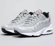 NIKE AIR MAX 95 QS (GS) SILVER/RED YOUTH SIZE 7Y WOMEN SIZE