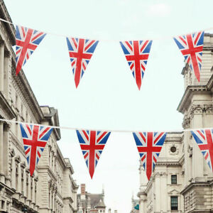 Union Jack 7m Triangle Flag Bunting British Party Bunting Decoration 25 Pennants