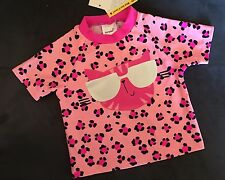 SWIMWEAR Rash vest SWIMSHIRT Sunsafe PINK Size 0 BRAND NEW Surf Shirt COOL CAT