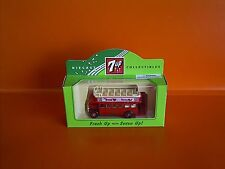 Lledo No 68006 -7up - Diecast Model Of A Red 1932 AEC Regent Open Top Bus