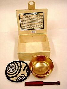 * UNIQUE FAIRTRADE SINGING BOWL From Tibet and made from Brass - m