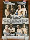 Official WEC Poster, Chael Sonnen, Paulo Filho,  Poster, Pride Fc