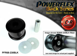 PFR68-230BLK Powerflex Black For Smart Roadster 452, Brabus 03-05 RrBeamMnt Bush