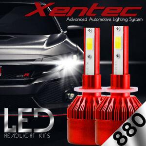 Pair White 6000K 880/881 H27W/2 388W 38800LM HeadLight Kit Bulbs LED Fog Light