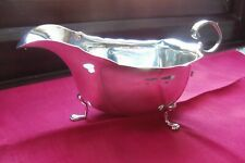 1905 CHESTER HALLMARKED SOLID SILVER SAUCE BOAT,GEORGE NATHAN & RIDLEY HAYES.