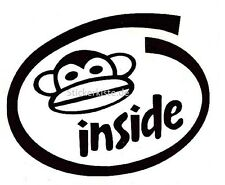Jersey mono Monkey Inside pegatinas 10 x 8 cm negro nuevo decal sticker diapositiva