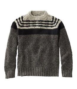 NWT LL Bean Signature Cotton Fisherman Sweater, Mixed-Stitch Crewneck- Size XL