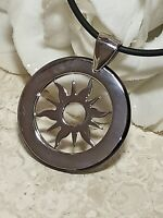 Vergina Sun Pendant Necklace SILVER Ancient Greek Jewelry Macedonia Gift HANDMDE