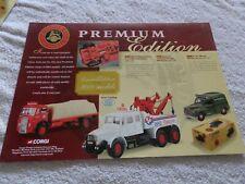 CORGI PREMIUM EDITION FLYER DISPLAY POSTER, WALL ART, COLLECTORS