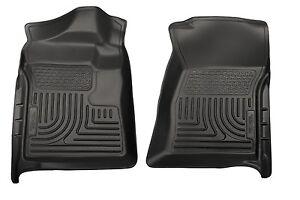 2007-2013 GMC Sierra 1500 2500 3500 Husky Black Front Floor Liners Free Shipping