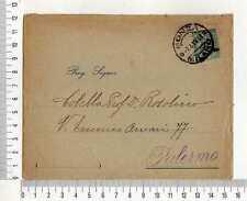 """16206) REGNO 7.4.1919 Busta Monza Palermo - Ditta """"FRETTE"""""""