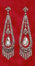 Antique Look 4.40Ct Rosecut Diamond 925 Sterling Silver Long  Earring