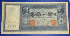 """New Listing1910 $100 Germany Large Size """"Horseblanket"""" Paper Money Currency"""