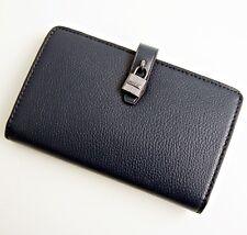 Michael KORS Portafoglio Portafogli Adele SLIM Bifold Wallet Zip Navy Nuovo 4f0f09f7367