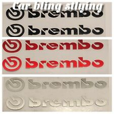 Brembo Car Stickers Doors Wings Mirrors Sports Decal Black Silver New Red