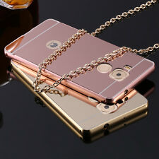 Luxury rose gold mirror case 2 in 1 acrylic back cover for huawei ascend mate 8
