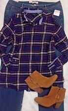 Women's Plus Clothing Lot 20/3X NWT Straight Leg Jeans Lands End Flannel Shirt