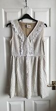 Boutique by Jaeger Beautiful Cream Floral Lace Summery Dress Size 12