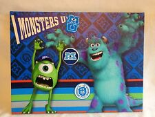 "Disney Pixar MONSTERS UNIVERSITY MEMO BOARD 12"" x 16"" With 3 Magnets Message"