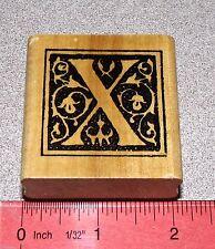 Alphabet Letter X Rubber Stamp Letter Monogram Vine Leaves ... X Marks the Spot